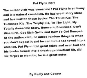 author visit letter